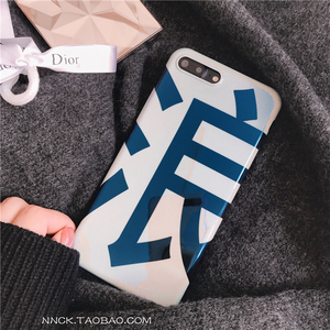 Personality Text Blu-ray wave Apple 6 Mobile Shell iPhonex/8/7/plus All-inclusive Soft shell Drop Men and women
