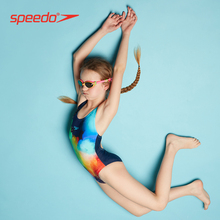 Speedo/ Speedo classic competition, anti chlorine, soft, fashionable, fresh and color matching children's consort swimsuit.