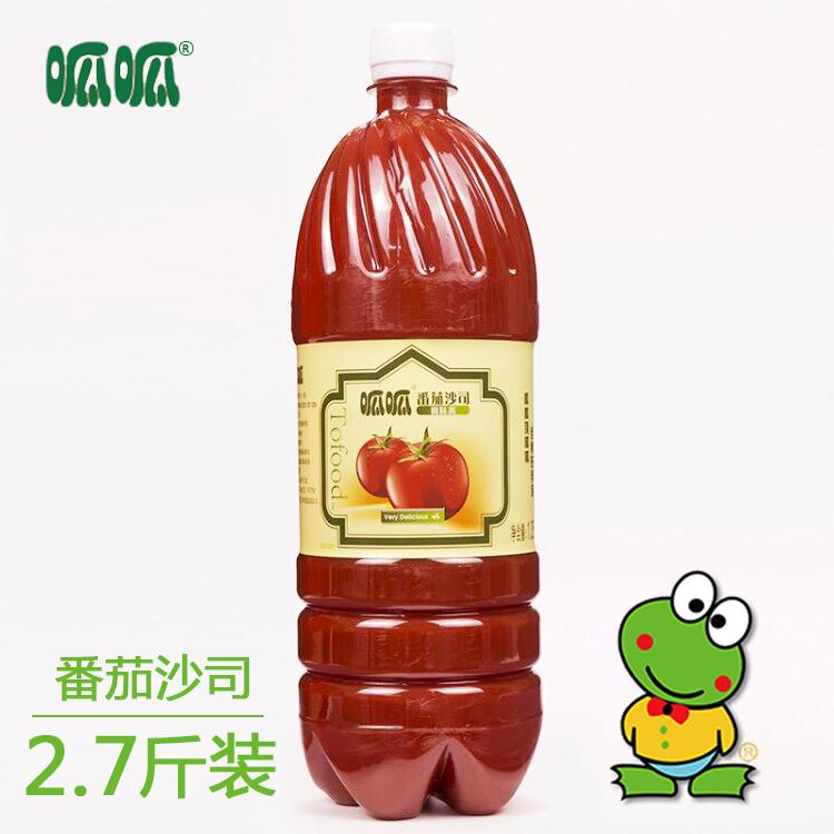 呱呱牌1.35公斤番茄沙司手抓饼番茄酱挤压瓶蕃茄酱意面商用调料