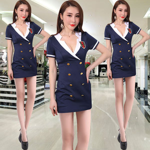 Sauna Technician Service Health Center Workwear Nightclub Waiter Uniform Female Waist Thin Waist Dress Night Workwear