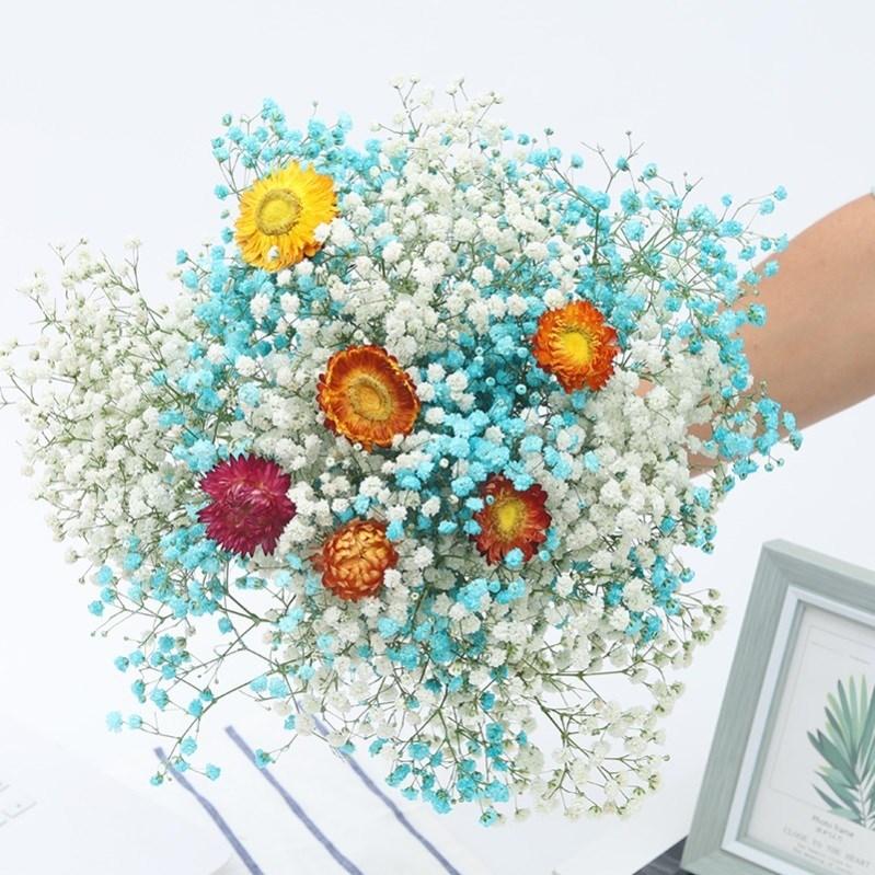 陶瓷电视柜满天星花瓶带干花插艺术套装文艺桌面放白w色的工艺品