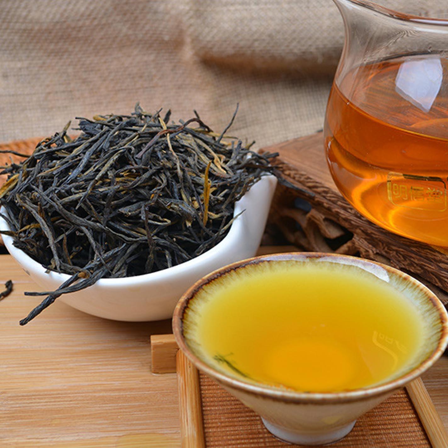 高档经典五八散茶料 古树直条松针二号滇红茶500克早春生态手工茶