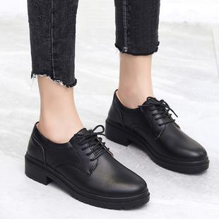 上班职业工作黑色英伦风小皮鞋软底女鞋子女2020新款春季春秋单鞋