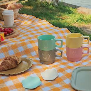 【请移步家居二店购买】甜蜜马卡龙 原创四色陶瓷咖啡杯牛奶杯