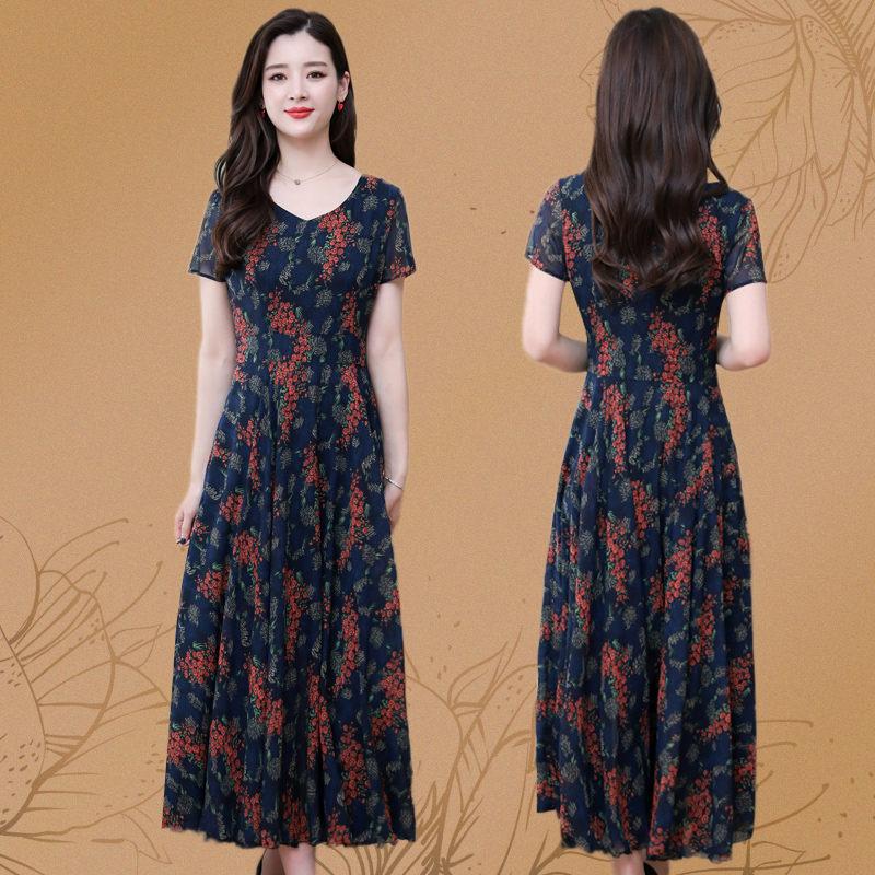 适合胖人裙子大码女装显瘦连衣裙2020新款夏装高贵秋季洋气遮肚子