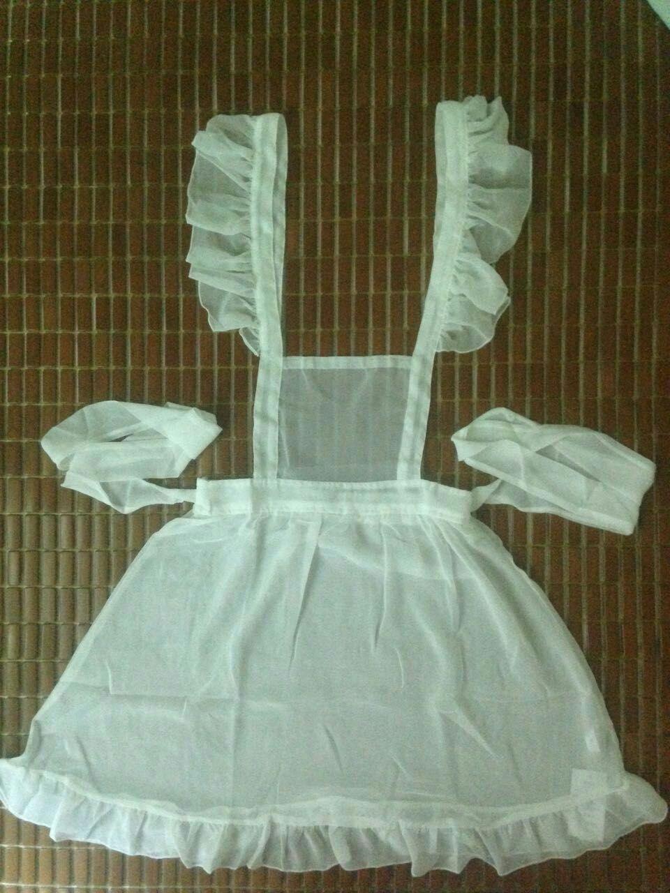 买家秀 透明雪纺围裙情趣决胜内衣