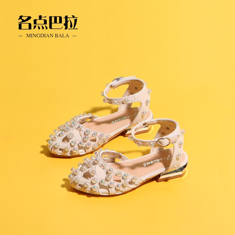 女童凉鞋2020新款时尚儿童包头公主鞋高跟韩版小女孩中大童鞋子夏