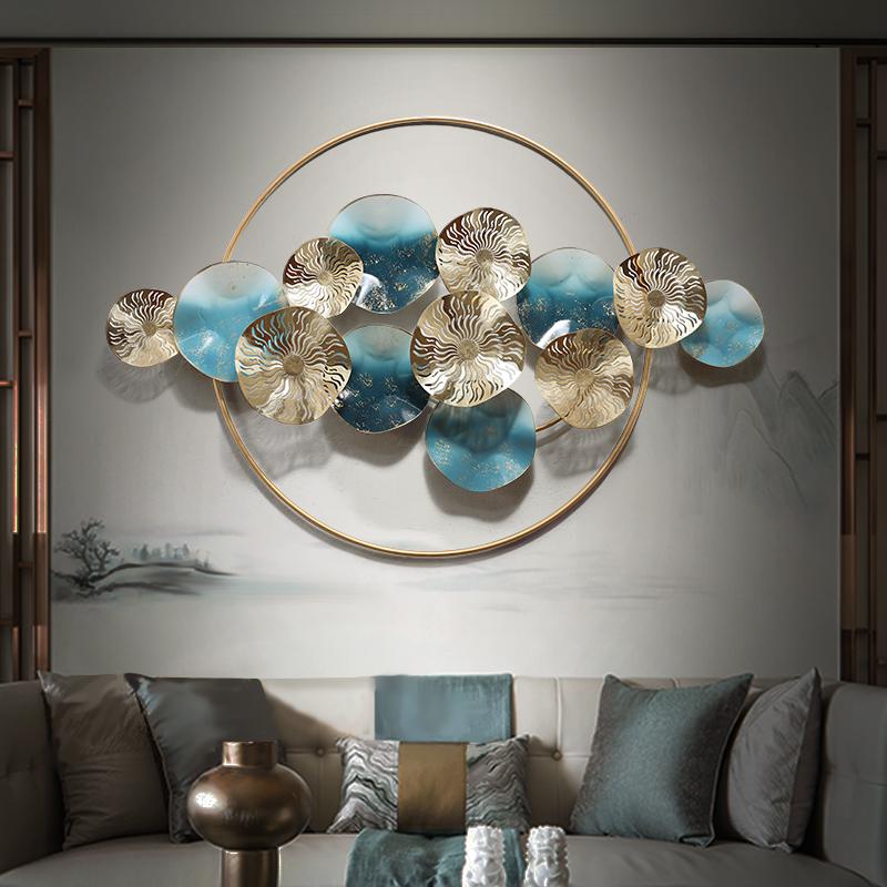 点击查看商品:新中式壁挂金属轻奢风墙面壁饰卧室客厅背景墙铁艺挂件装饰品墙饰