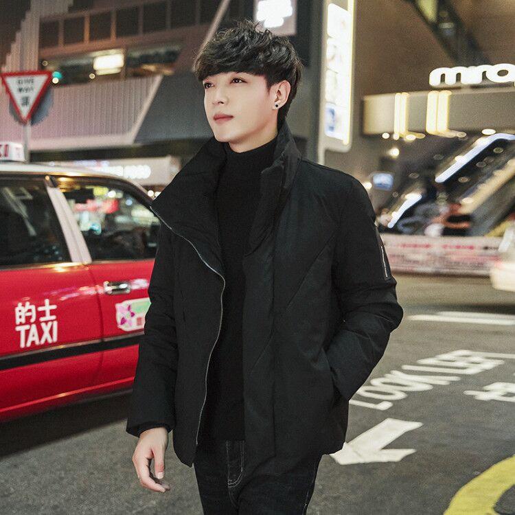 棉衣男士外套冬季新款潮牌短款羽绒棉服韩版潮流冬装加厚面包服男图片