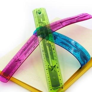 超软直尺 小学生用透明尺软尺