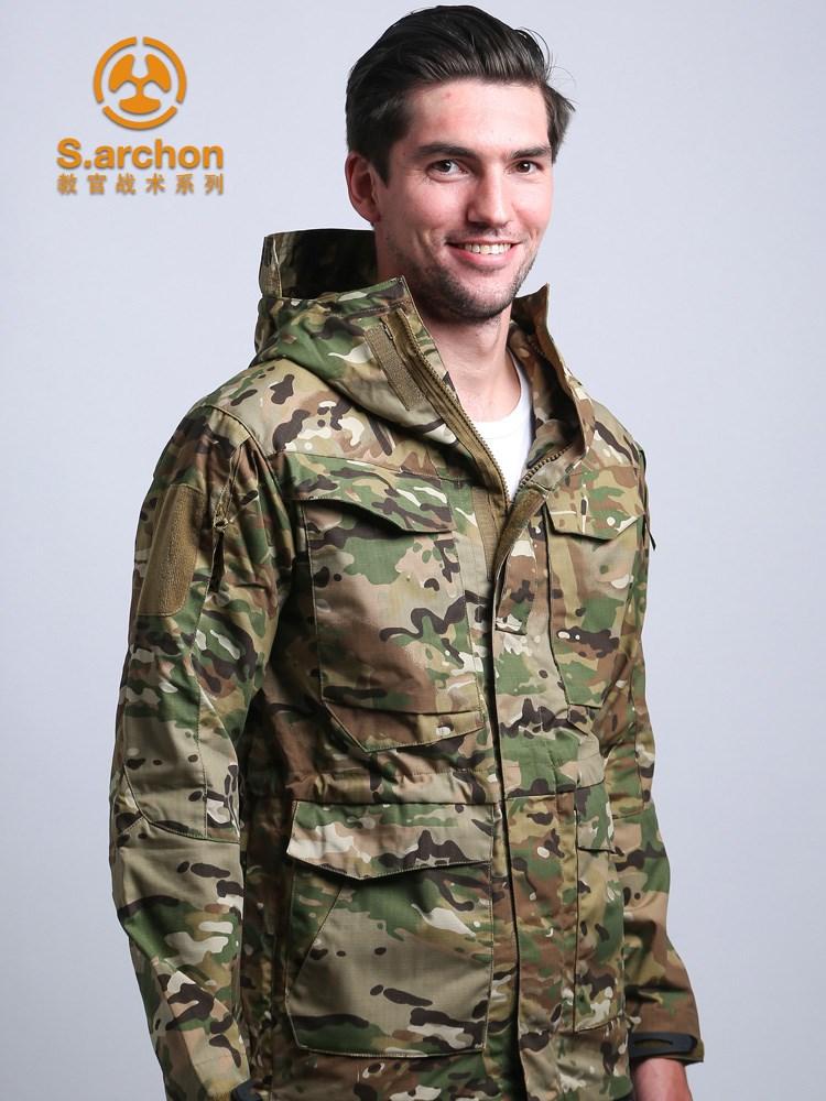 春秋谍影教官战术三合一冲锋衣男户外军迷风衣M65迷彩外套登山服