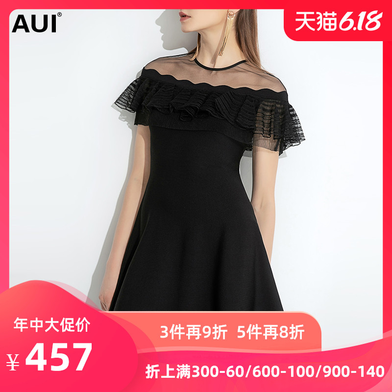 小个子黑色连衣裙女夏2020新款女装收腰显瘦赫本风时尚气质小黑裙