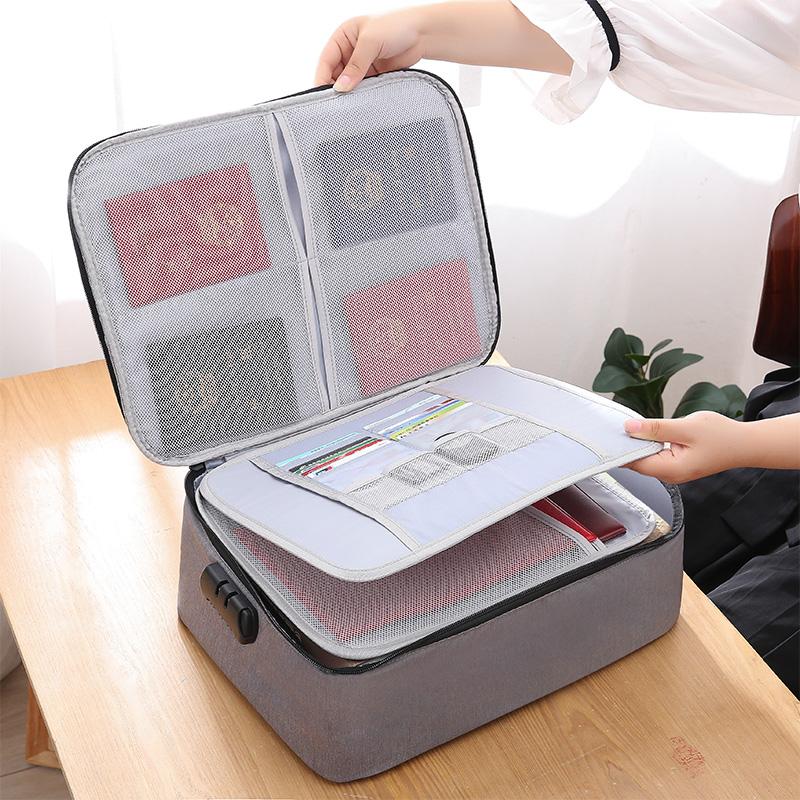 证件收纳包家庭文件收纳盒户口本整理袋子旅行护照卡多层家用便携