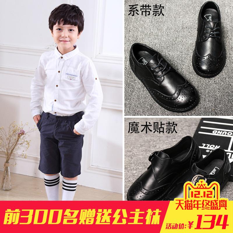 男童真皮鞋新款中大童