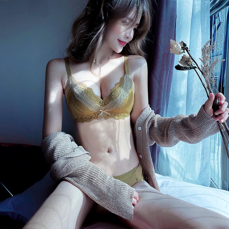 小胸衣内衣聚拢调整型收副乳防下垂无钢圈厚模杯文胸罩套装女上托