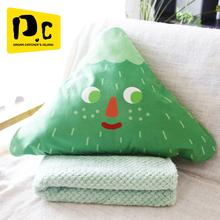 李尖尖抱枕du2子两用汽ls靠枕空调被珊瑚绒毛毯午睡毯多功能