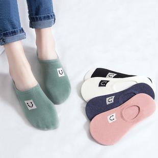 袜子女短袜浅口夏季薄款船袜女纯棉硅胶防滑隐形女士棉袜ins潮袜