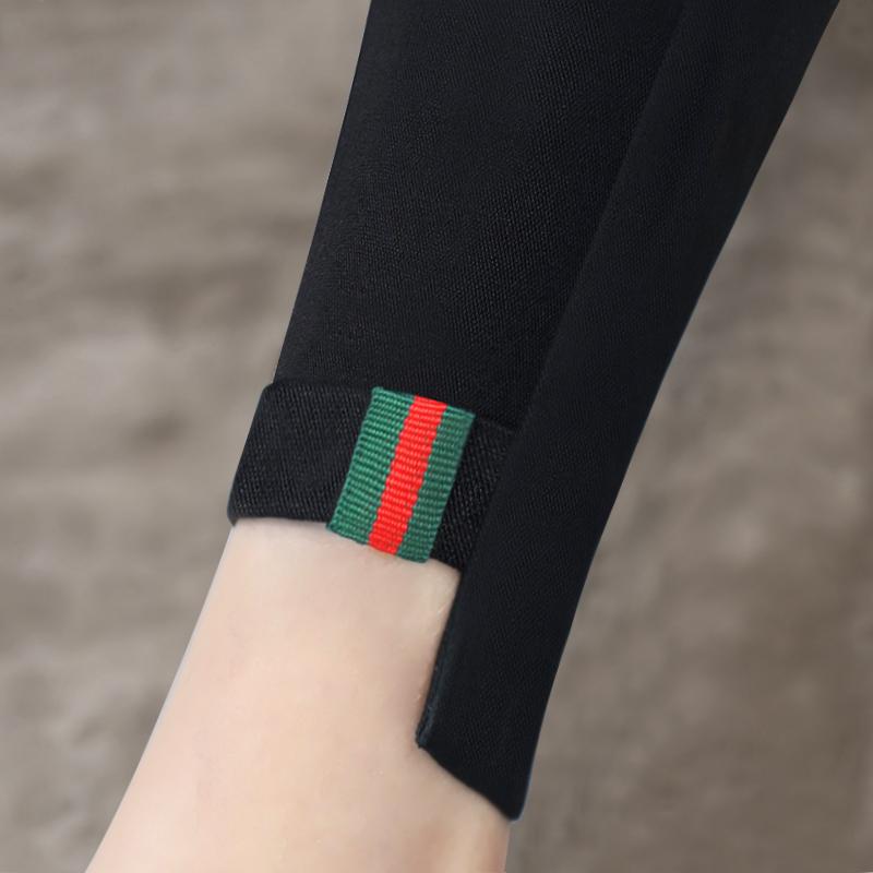 打底褲女外穿黑色秋季高腰2017新款韓版百搭小腳鉛筆長褲加絨加厚