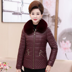 40-50 middle-aged women's mothers wear winter clothing new coat middle-aged and elderly women's short fashion cotton coat
