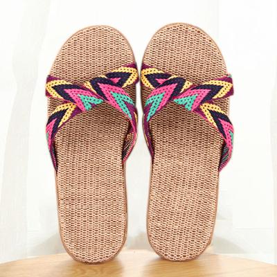 亚麻拖鞋女夏季男女居家拖鞋防滑静音防臭室内木地板家居凉拖鞋男 拍下9.8元包邮