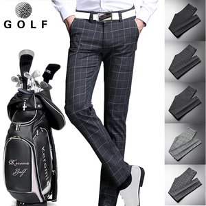 Autumn and winter golf clothing men's long pants GOLF ball pants men's pants plaid pants slim sports leisure ball pants