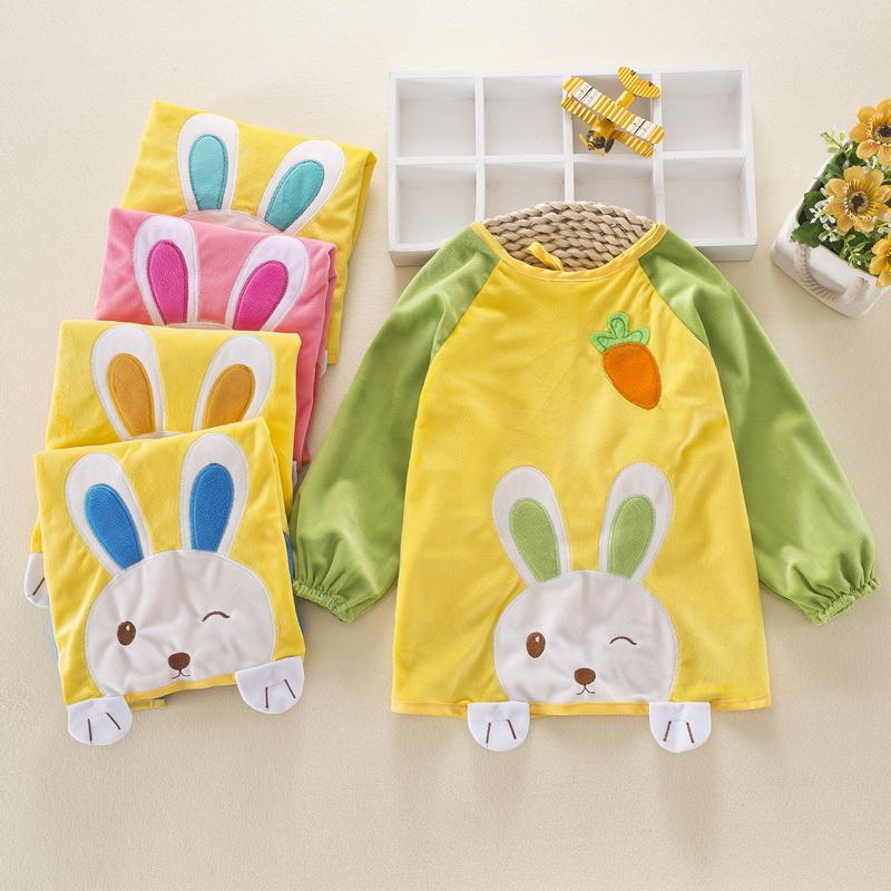 宝宝罩衣秋冬防水长袖儿童围裙反穿衣倒褂小孩吃饭衣护衣婴儿罩衣