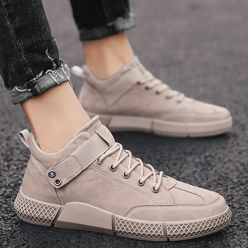 男鞋秋季潮鞋2019新款潮流百搭冬季棉鞋运动休闲鞋子加绒保暖板鞋