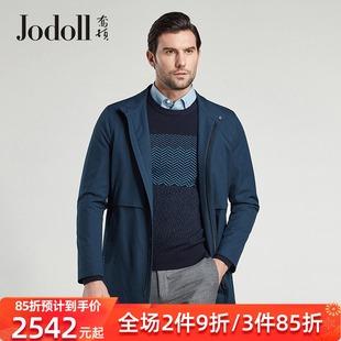 JODOLL乔顿男士风衣中长款商务休闲英伦风男装百搭帅立领风衣外套