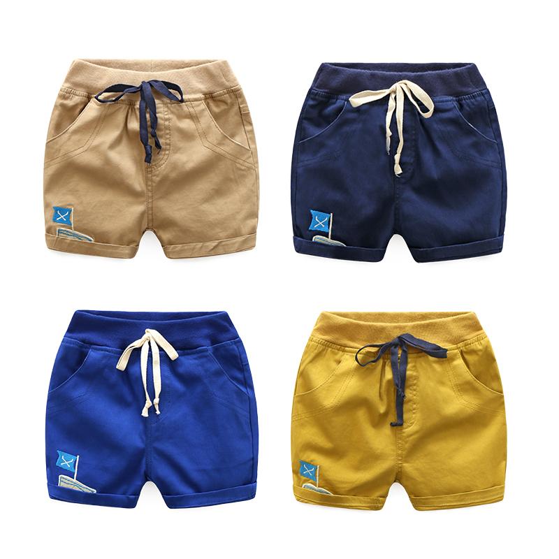 男童 刺绣 帆船 短裤 热裤 中裤 夏装 新款 童装 宝宝 儿童 裤子