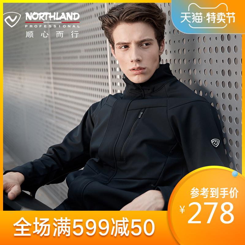 诺诗兰软壳衣男秋冬户外防风外套硬壳冲锋衣GF085X09