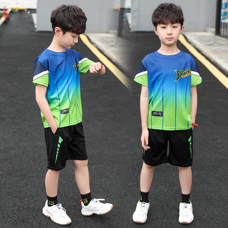 童装男童夏装速干篮球服2020年新款夏季运动套装韩版帅气中大男孩