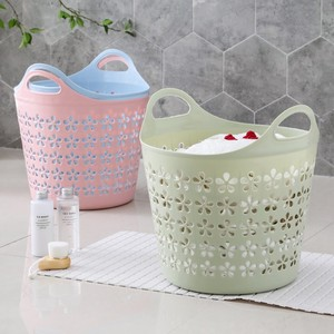 Large plastic dirty clothes basket laundry basket bathroom laundry basket household toy clothing storage basket dirty clothes storage basket