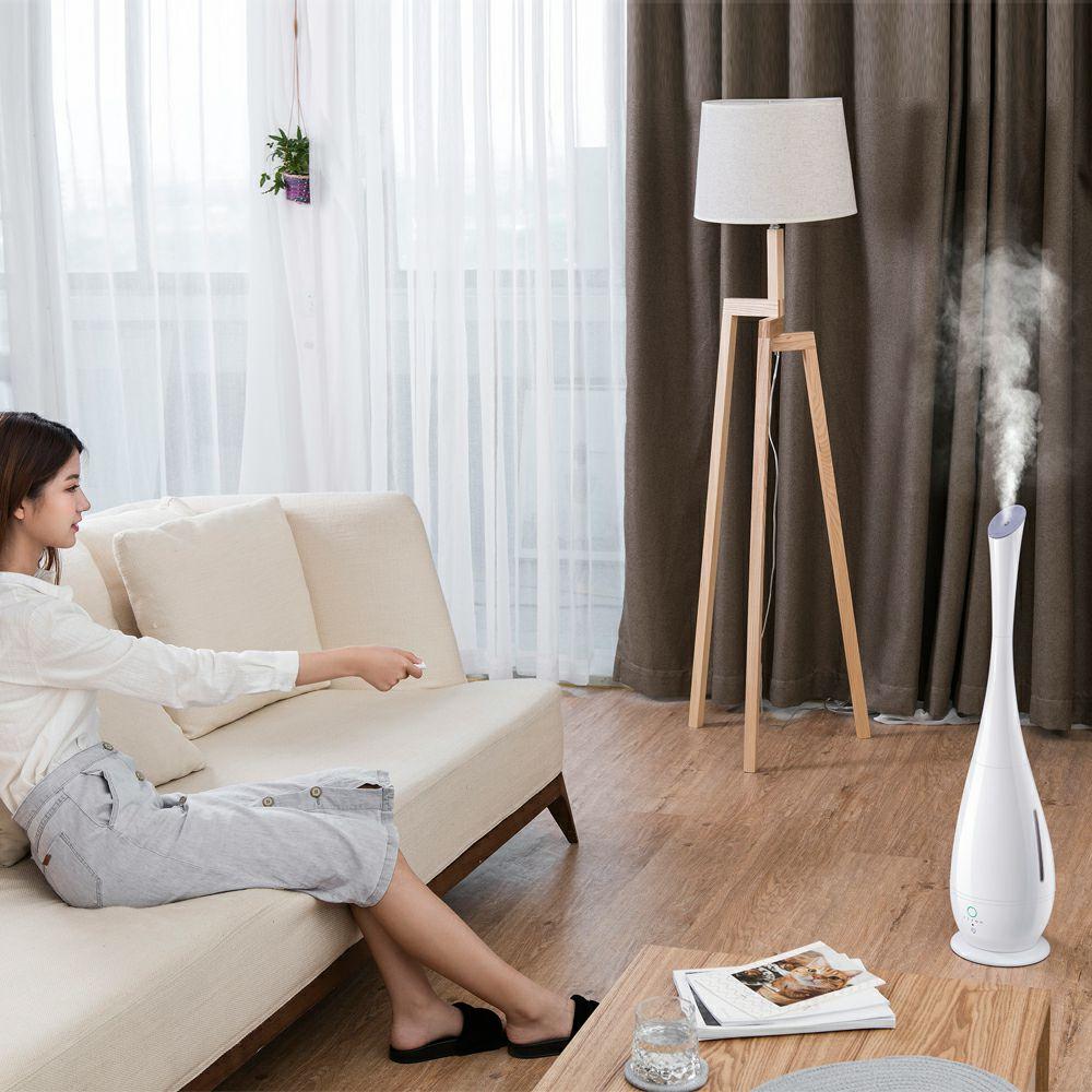 小熊落地式加湿器遥控家用静音卧室5L大容量空调房净化空气香薰机