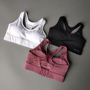 高强度定型镂空运动内衣女防震跑步聚拢文胸健身透气背心式bra图片