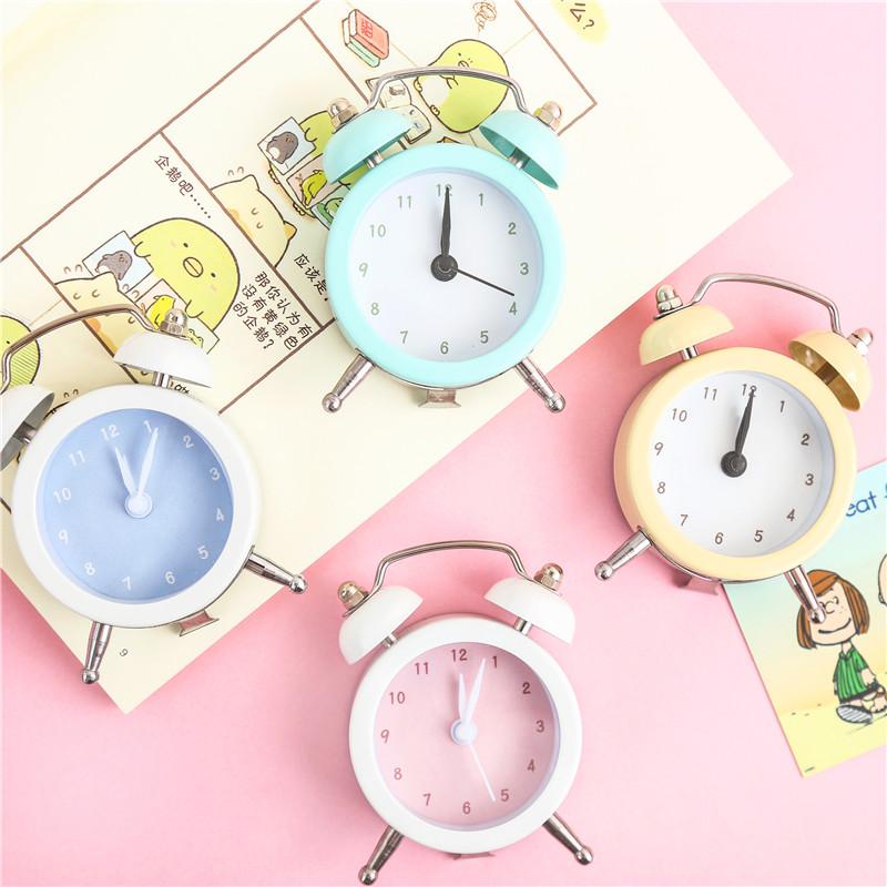 创意迷你小闹钟床头卧室小时钟静音儿童学生用可爱少女心钟表摆件