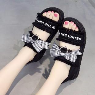 。2020春夏新款女生公主少女凉鞋平底初中生小学生学生女孩百搭图片
