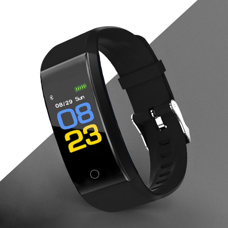运动手环卡路里计步器彩屏智能震动闹钟监测心率血压多功能手表