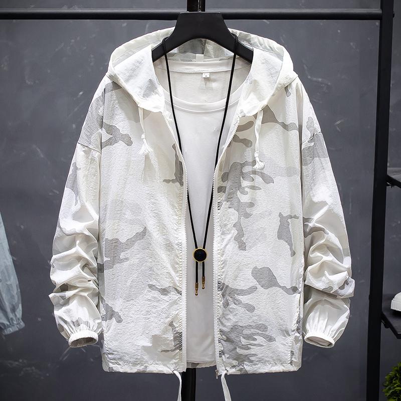 男士防晒服夏季超薄防晒衣韩版潮流迷彩冰丝夹克衫透气薄款外套男
