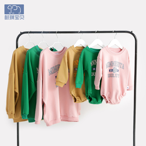 Parent-child clothes mother sweater baby clothes spring and autumn newborn baby fart clothes baby bodysuits women's clothing baby children's clothing