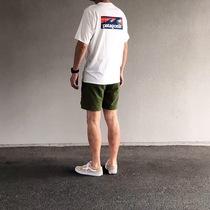 日本新款潮牌BEAMS 巴塔 海浪印花图案男女情侣短袖T恤