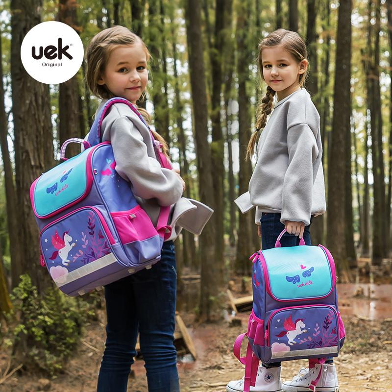 uek小学生书包1-3年级女孩轻便女生双肩背包女童6-12岁儿童书包