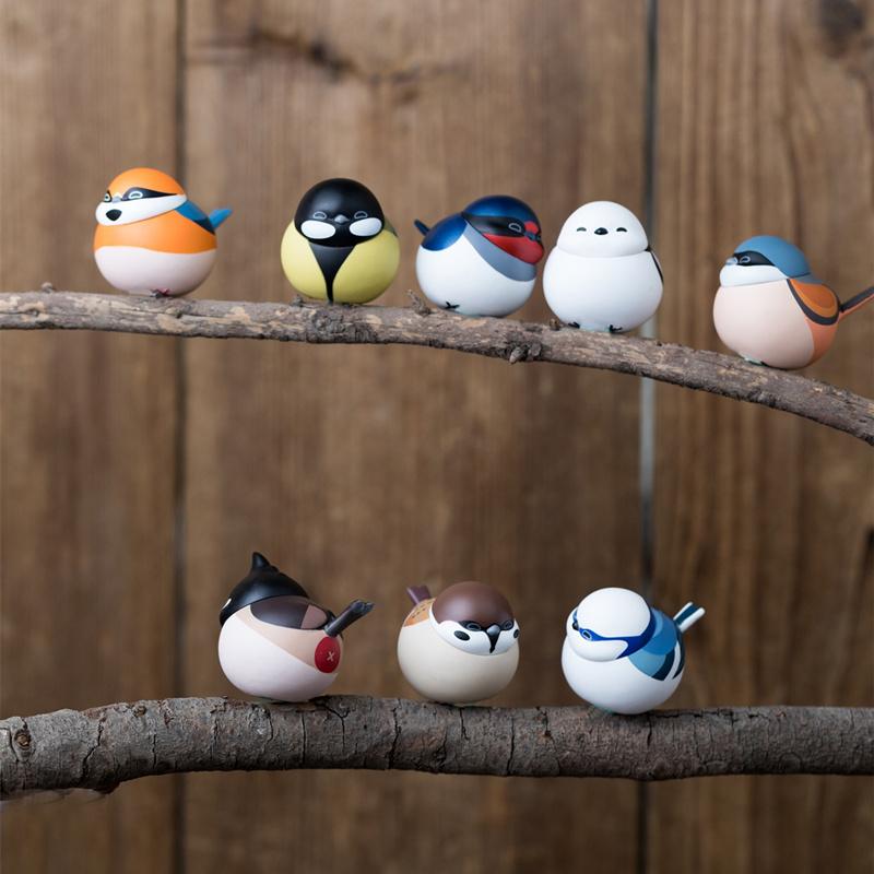 空想造物 球球极危物种 肥啾之中国的雀类 手办公仔盲盒玩具