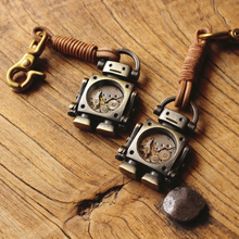 手工复古个性钥匙扣fo6汽朋克机an包包配饰情侣挂件礼物定制
