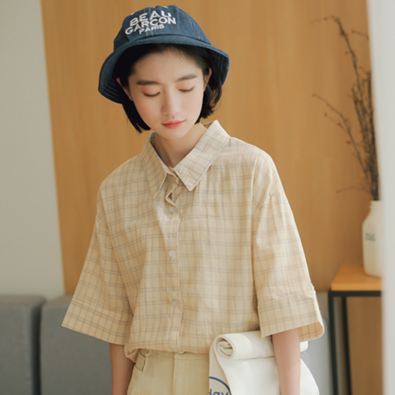 2019 Spring New Fat Mm Womens Large Size Lapel Chiffon Shirt Long-sleeved Printed Embroidery Flower Head Lantern Sleeves Blouse Women's Clothing