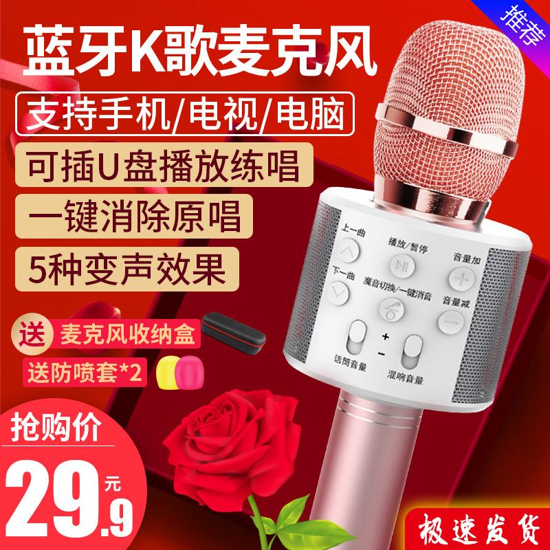 雅兰仕 K歌神器儿童麦克风话筒音响一体无线蓝牙手机唱歌K歌专用全民唱歌全能麦家庭KTV自带扩音器专用音箱