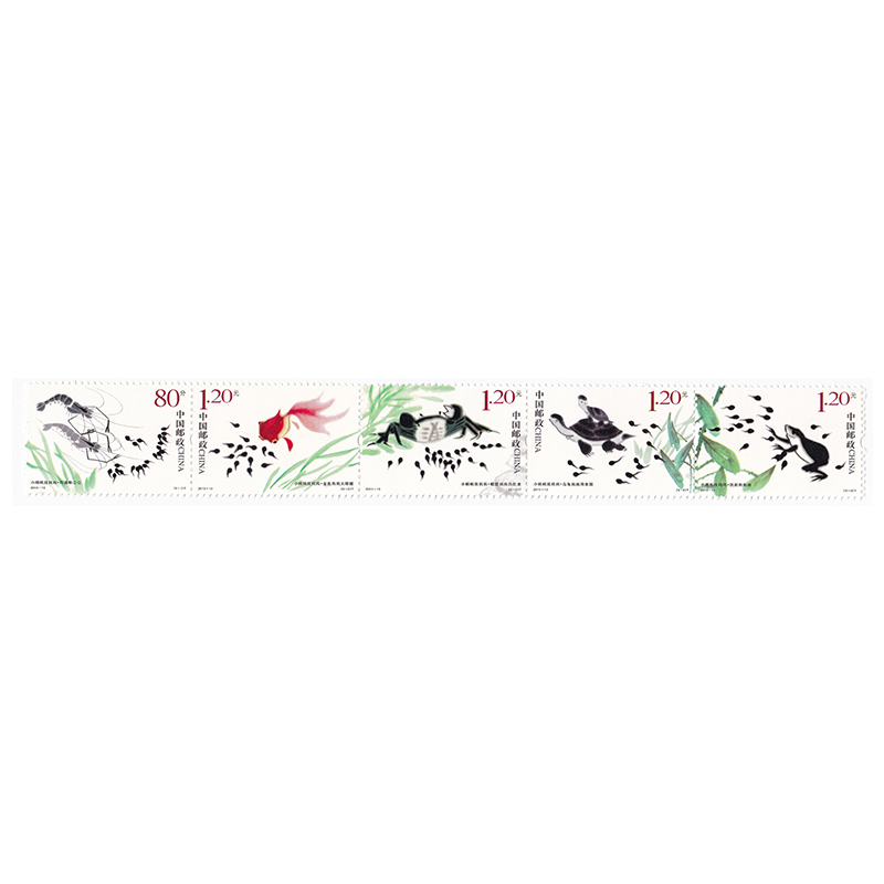 2013-13 小蝌蚪找妈妈邮票5枚大全套特种邮票套票 Y-32