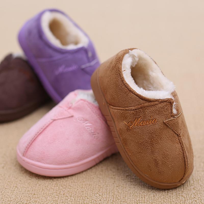 儿童棉拖鞋冬季包跟保暖宝宝拖鞋男童女童小孩棉鞋婴儿可爱家居鞋