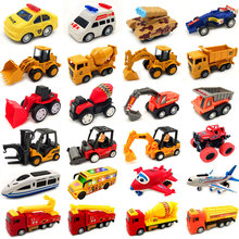 儿童玩具车(小)汽车工程车回力惯ce11耐摔飞in机模型玩具套装