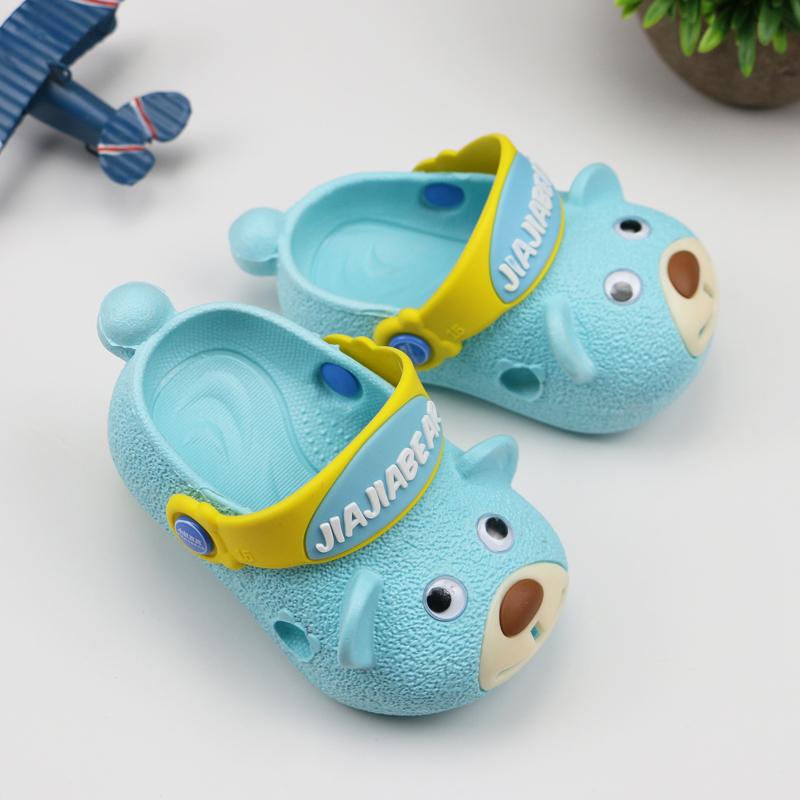 儿童凉拖鞋男夏防滑软底室内外穿可爱小童1-2-3岁宝宝男童拖鞋女