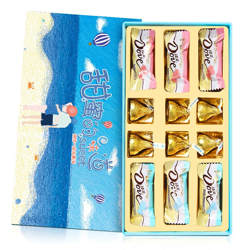 德芙巧克力礼盒装送男友女友朋友情人节生日礼物女闺蜜七夕表白男